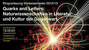 Ausschnitt des Plakats zur RV Quarks and Letters (Bild: FAU)