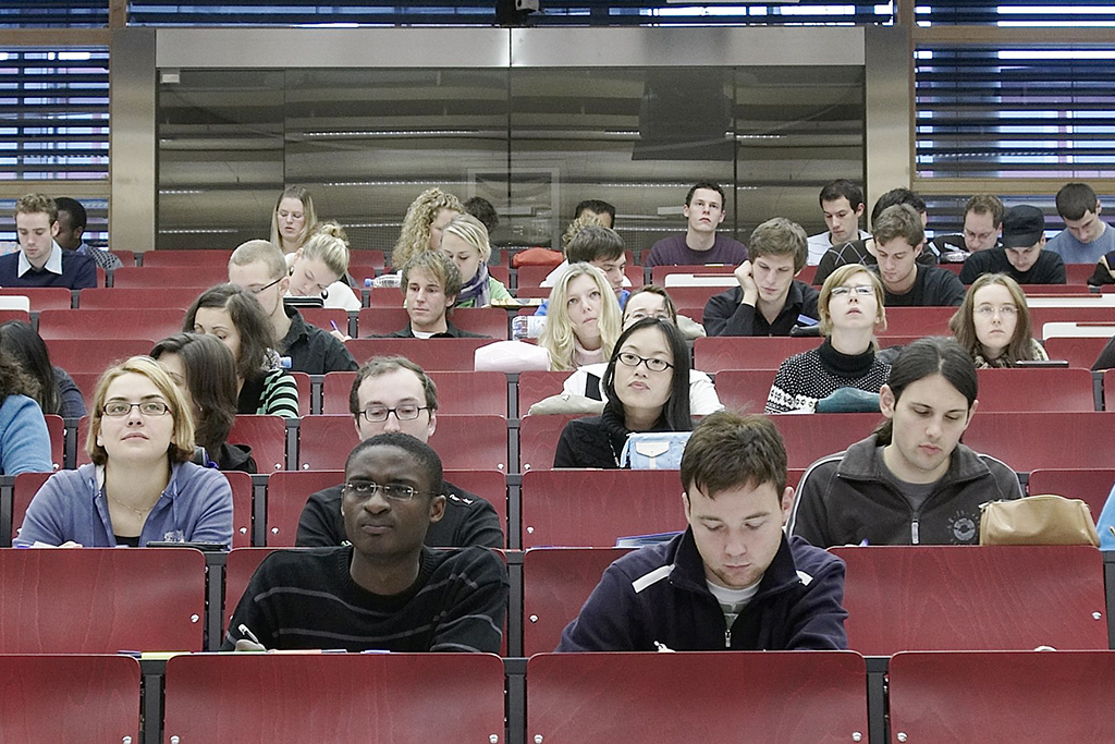 Hörsaal am FB Wirtschaftswissenschaften (Bild: FAU)