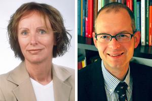 Prof. Dr. Andrea Abele-Brehm (li.) und Dr. Leopold Klepacki (Bilder: privat)