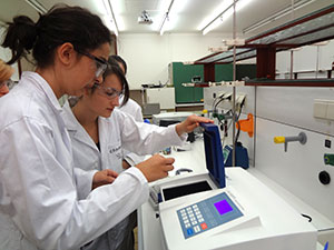 Schüler beim Experimentieren  (Foto: FAU)