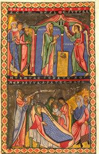 Illustration aus der Gumbertusbibel (Bild: Universitätsbibliothek Erlangen)