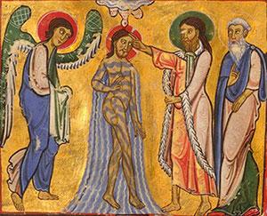 Illustration aus der Gumbertusbibel (Bild: Unibibliothek Erlangen)