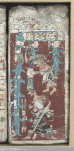 Die Große Flut im Kalender der Maya (Dresdner Codex). (Bild: Buchmuseum der Sächsischen Landes- und Universitätsbibliothek, Dresden)