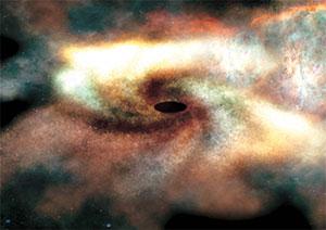 Ein schwarzes Loch (Bild: FAU)