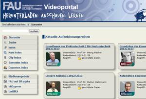 fau.tv - Das Videoportal der FAU (Bild: Screenshot)