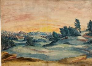 Landschaft mit Golgatha