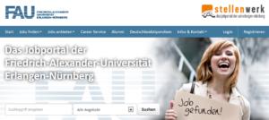 Seit Ende Mai 2013 online: Das neue Karriereportal der FAU (Bild: Screenshot)