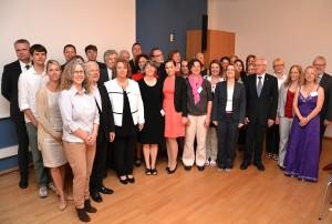 Die Kollegiatinnen und Kollegiaten zusammen mit den Präsidenten der Hochschulen. (Bild: )