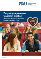 Brochure 'International Master's degree programmes at FAU'