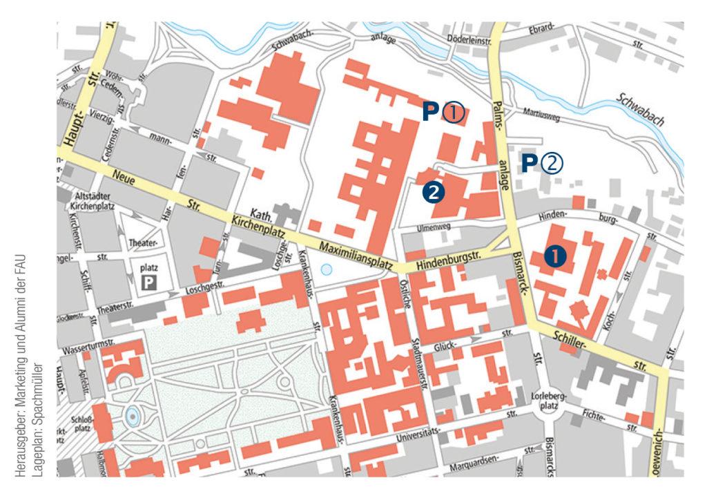 Karte und Lageplan Dies Academicus der FAU