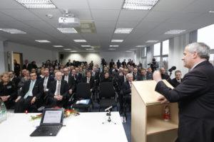 Dr. Ludwig Spaenle, bayerischer Staatsminister für Bildung und Kultus bei der Eröffnung des Nuremberg Campus of Technology (NCT) (Bild: Kurt Fuchs).