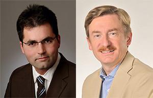 Prof. Dr. Christian Merkl und Prof. Dr. Claus Schnabel (von links). Bild: Privat