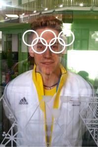 Kevin Korona bei den Olympischen Winterspielen in Sotschi. (Bild: Privat)