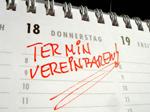 Termin vereinbaren - Eintrag in einen Kalender