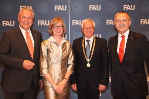 Innenminister Herrmann, Kanzlerin Reichert, Präsident Grüske, Alt-Kanzler Schöck