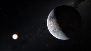 Künstlerische Darstellung des Planeten um den sonnenähnlichen Stern HD 85512, der an der Europäischen Südsternwarte (ESO) in Chile entdeckt wurde. (Bild: ESO/M. Kornmesser)