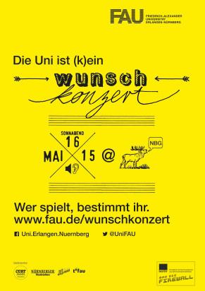 Das Plakat zum Wunschkonzert (Bild: FAU)
