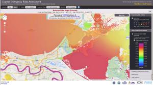 """Die an der FAU entwickelte Software """"LibGeoDecomp"""" soll im neuen Forschungsprojekt """"STORM"""" nicht nur für schnellere, sondern auch für genauere Berechnungen des Hurrikan-Vorhersageprograms ADCIRC sorgen. (Bild: Andreas Schäfer/CERA)"""