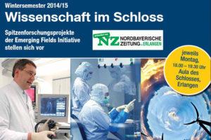 """In der Vortragsreihe """"Wissenschaft im Schloss"""" stellt die FAU innovative Spitzenforschungsprojekte vor. (Bilder: Uniklinikum Erlangen/ Panthermedia)"""
