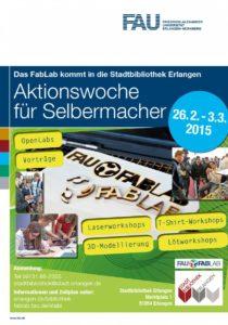 Plakat zur Aktionswoche für Selbermacher. (Bild: FabLab)