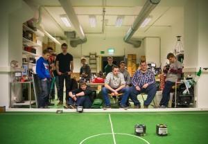 """Die Robotics verfolgen eing roßes Ziel: """"Weltmeister werden, solange wir noch dabei sind."""" (Bild: Markus Hoffmann)"""