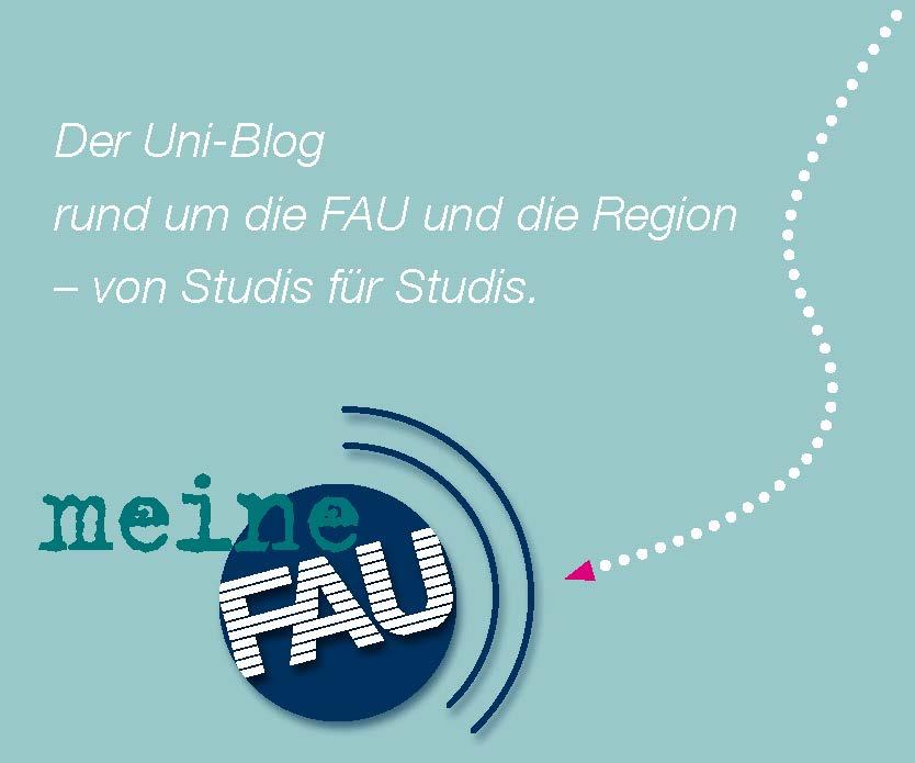 Banner des Studierendenblogs meinFAU