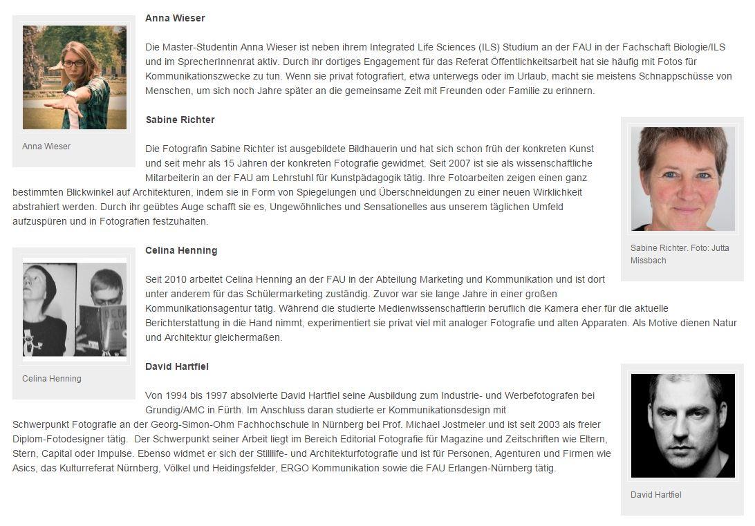 Screenshot http://blogs.fau.de/meinefau/die-jury-des-fau-fotowettbewerbs-stellt-sich-vor