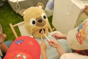 Egal ob Zahnweh oder ein gebrochenes Bein – die Teddydocs stehen den Plüschtieren zur Seite. (Bild: Alexander Kapp)