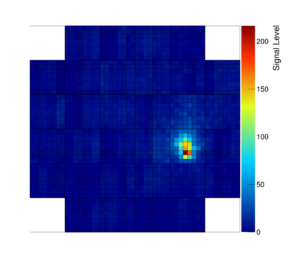 Image of the first particle shower recorded by GCT. (Image: GCT sub-consortium of CTA)