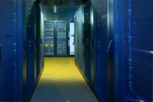 Foto des Serverraums des Rechenzentrums der FAU