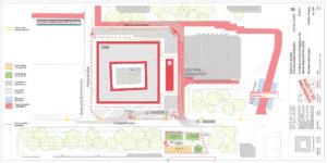 Plan Baumaßnahmen Interdisziplinäres Zentrum für nanostrukturierte Filme (IZNF)