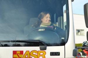 Fährt den GW-SAN: Laura Lacatusu (Bild: Michael Nissen)