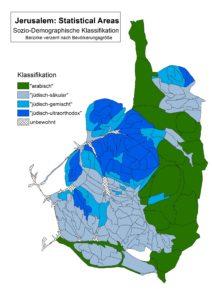 Grafik von Jerusalems Bevölkerungsgruppen