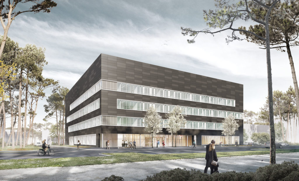 Architect's impression of IZNF, FAU's new interdisciplinary centre for nanostructured films.