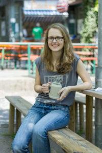 FAU student Katharina at the Berg