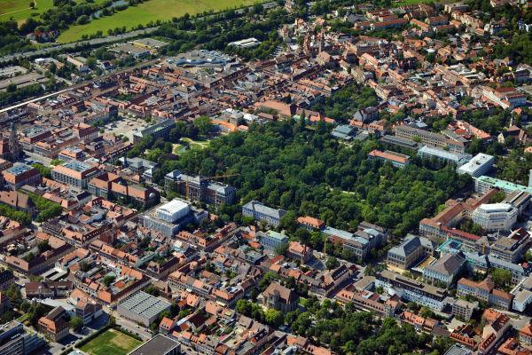 Aerial photo of Erlangen