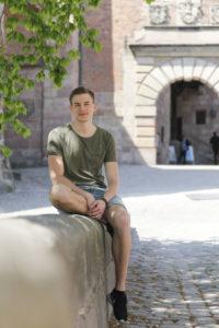 FAU student Lukas at Nuremberg Castle