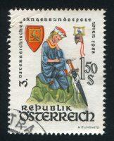 Briefmarke mit einem Bild von Walther von der Vorgelweide