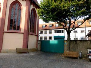 Mitten in der Altstadt gelegen - die JVA Bamberg (Bild: Marietta Thies).