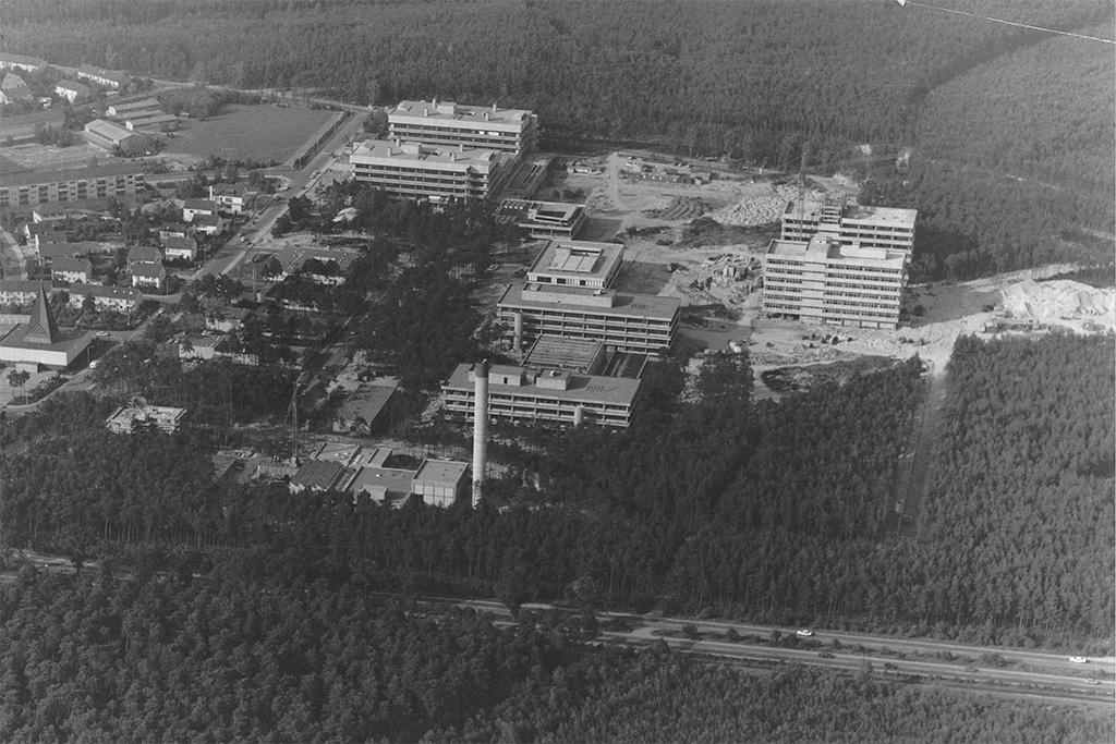 Luftbild Technische Fakultät 70er