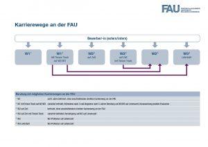 Professuren: Karrierewege an der FAU (Grafik: FAU)