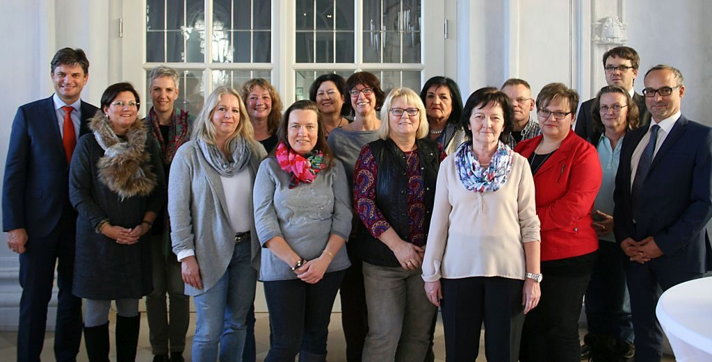 Gruppenfoto Dienstjubilare Uniklinik Erlangen