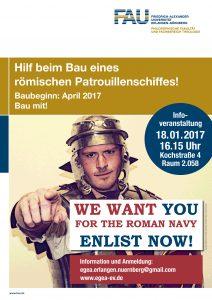 Plakat Roemerschiff FAU