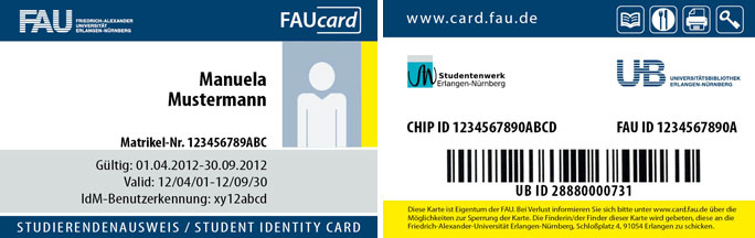 FAUcard for students › Friedrich-Alexander-Universität