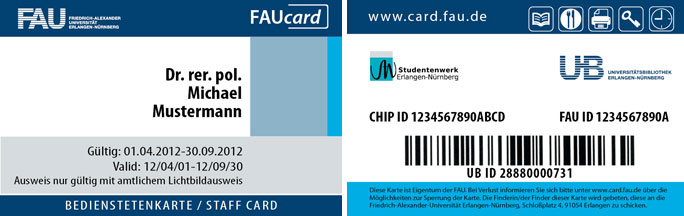 FAUcard for staff