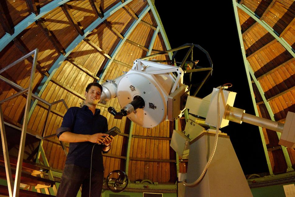 Nico Zäch in der Sternwarte