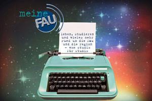 Schreibmaschine und meineFAU-Logo