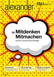 Cover des FAU-Magazins alexander Nr. 106