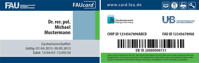 FAUcard für Gäste