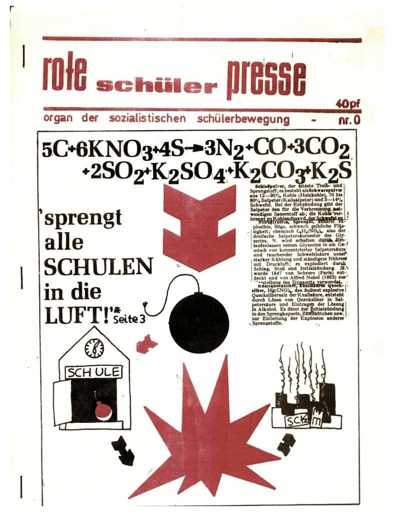 Deckblatt Schülerzeitung